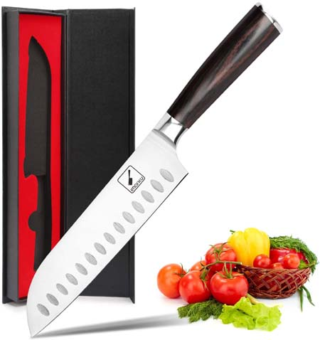 Ergonomic Pakkawood Handle, Best Choice for Home Kitchen and Restaurant