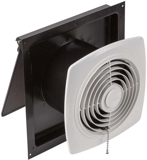 Broan-Nutone 507 Chain-Operated Ventilation Fan, Plastic White Square